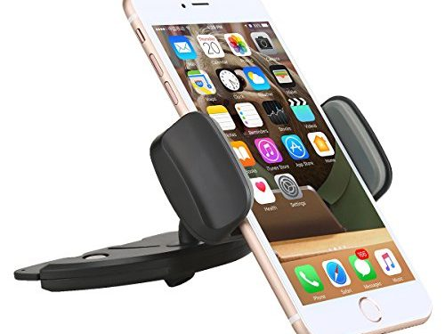 Phone Holder for Car, Amuoc Car Phone Mount CD Slot Holder Applicable to Mobile for 3.5-5.5″