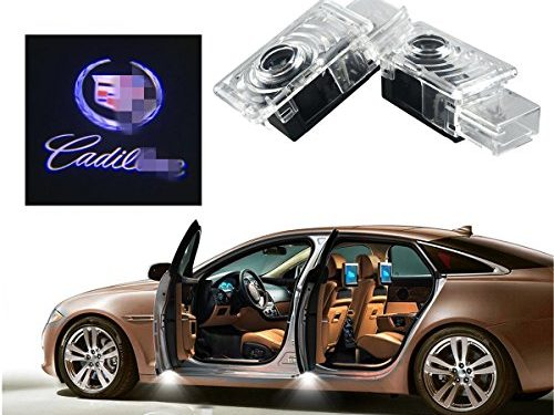 2Pcs Car Door Welcome Laser Led Light,YANF Logo Ghost Shadow Projector Lights Courtesy Step Lamps For Cadillac ATS SRX XTS