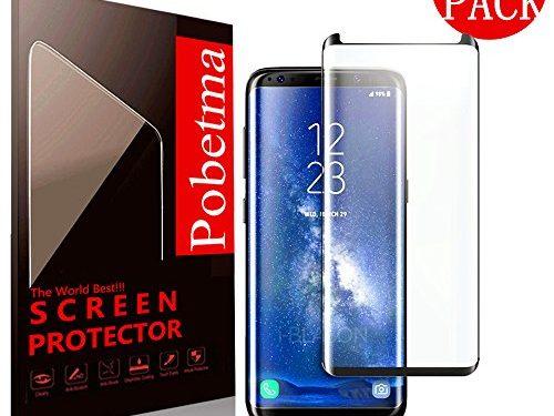 3-Pack Samsung Galaxy S8 Plus Screen Protector , Pobetma Case-Friendly3D coverageNo Bubble PET HD Screen Protector Film for Samsung Galaxy S8 Plus Black