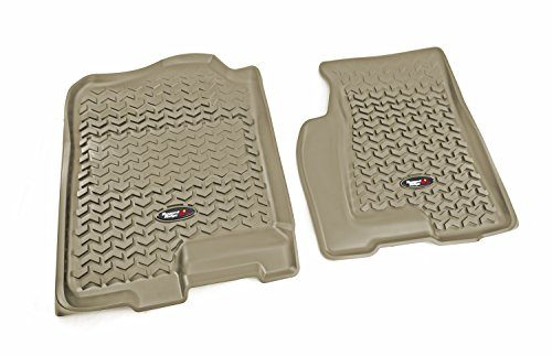 Rugged Ridge All-Terrain Tan Front Row Floor Liner For Select Cadillac Escalade, Chevrolet Avalanche, Silverado, Suburban, Tahoe, GMC Sierra and Yukon Models