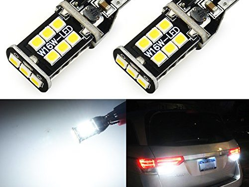 JDM ASTAR Extremely Bright 921 912 3035 Chips LED Bulbs For Backup Reverse Lights, Xenon White (Only used for backup reverse lights)