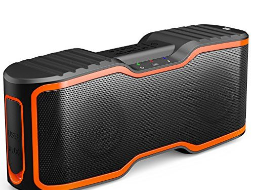 AOMAIS Sport II Portable Wireless Bluetooth Speakers 4.0 with Waterproof IPX7,20W Bass Sound,Stereo Pairing,Durable Design for iPhone /iPod/iPad/Phones/Tablet/Echo dot,Good GiftOrange