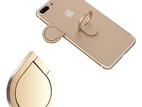 Finger Ring Stand, mobile cell phone stand holder Car Mount Phone Ring Grip 360°Universal Grip Finger Ring Holder Zinc Alloy (Gold)