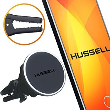 2017 HUSSELL Magnetic Air Vent Car Phone Mount for any Cell Phone. Phone Holder for Car. Magnetic Car Mount. Universal Car Phone Holder.
