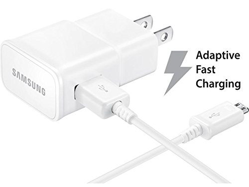 Bulk Packaging – AT&T Samsung Galaxy S7 Active Adaptive Fast Charger Micro USB 2.0 Cable Kit! 1 Wall Charger + 5 FT Micro USB Cable AFC uses dual voltages for up to 50% faster charging!