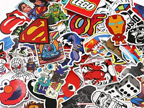 UTSAUTO Pack of 100Pcs Different Car Stickers Motorcycle Bicycle Skateboard Laptop Luggage Decals Bumper Stickers Waterproof