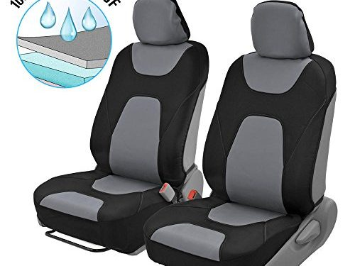 Modern Black/Gray Side-less Quick Install Auto Protection – Motor Trend 3 Layer Waterproof Car Seat Covers