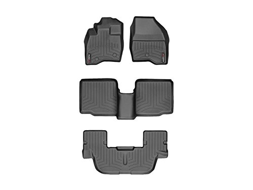 Weathertech DigitalFit 449811-44359-2-3 – First, Second, and Third Row All Weather Floor Liners for 2017 Ford Explorer Black
