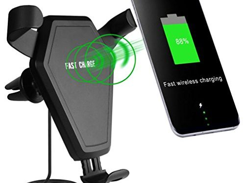 Qi car wireless charger,Fast Wireless Charger Car Phone Mount Holder,Wireless fast Charger for iPhone X, 8/8 Plus, Samsung Galaxy S8, S7/S7 Edge, Note 8 and Other Qi Enabled Devices