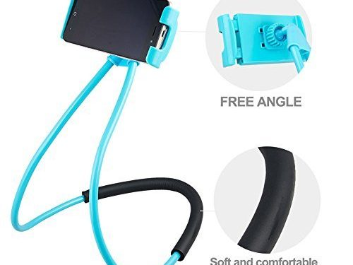 Eiffay Hanging on Neck Cell Phone Mount Holder, Universal Mobile Phone Stand, Lazy Bracket DIY Free Rotating for Multiple Functions