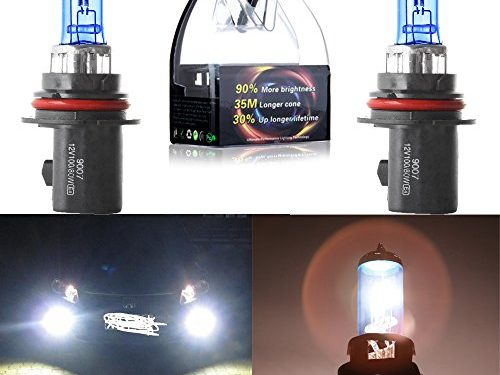 CCIYU 2 Pack Super White 9007-HB5 5900K Xenon HID Halogen Headlight Bulb 80/100W 12V