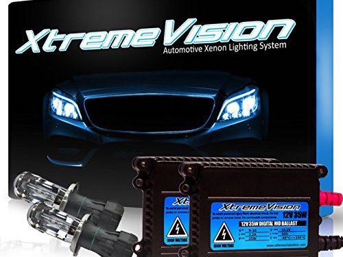 Medium Blue – 2 Year Warranty – Bi-Xenon H4 / 9003 8000K – XtremeVision 35W HID Xenon Conversion Kit with Premium Slim Ballast