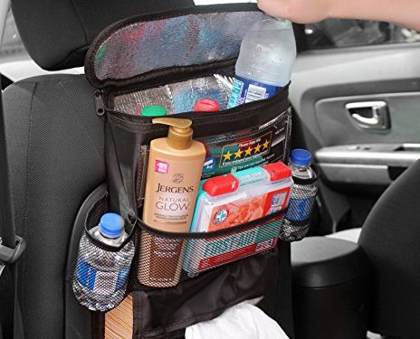 Back Seat Organizer Taxi Driver's; Multi-Pocket Automobile Organizer for Uber & Lyft Drivers or Personal Cars