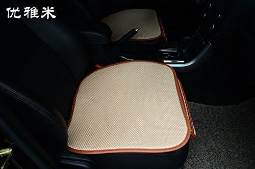 EDEALYN New Universal Antiskid Car Seat Cushion Seat Cover Pad Mat for Auto Accessories Office Chair Cushion Four Seasons General ,1 PCS Beige