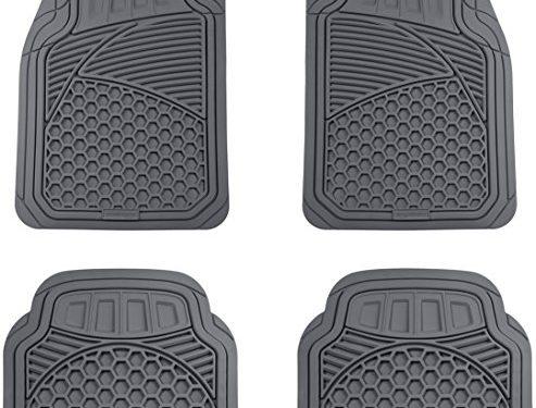 AmazonBasics 4 Piece Heavy Duty Car Floor Mat, Gray