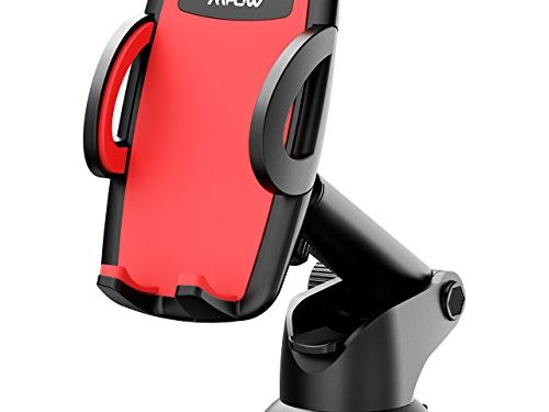 Mpow Car Phone Mount, Universal Phone Holder for Car Dashboard Windshield Phone Cradle for iPhone X/8/8Plus/7/6S/6Plus/5S/5, Samsung Galaxy S8 S7 S6 S5, Nexus 5X/6P, LG, HTC and More