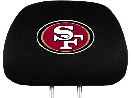 NFL San Francisco 49ers Head Rest Covers, 2-Pack
