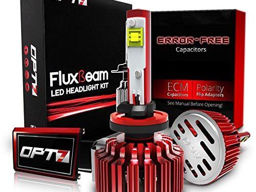 2 Yr Warranty – 60w 7,000Lm 6K Cool White CREE – OPT7 Fluxbeam LED Fog Light Kit w/ Clear Arc-Beam Bulbs – 5202