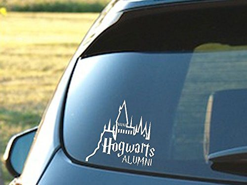 Hogwarts Alumni Castle – 6″ Car Truck Vinyl Decal Art Wall Sticker – Harry Potter Movies Books white