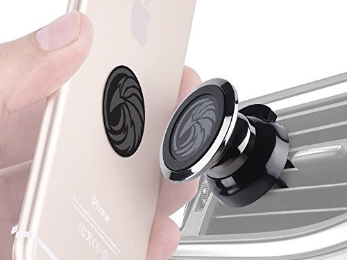 For any Smartphone iPhone 8, Android Cell Phone, GPS | Stylish One-Hand & One-Sec Holder, +100 to Safeness & Comfort – Magnetic Air Vent Car Mount