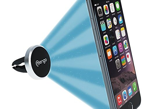 Mengo Slim-Snap Aluminum Magnetic Air Vent Car Mount Holder For iPhone, Samsung, HTC, LG, Nokia, Blu, iPods, GPS  Universally Compatible