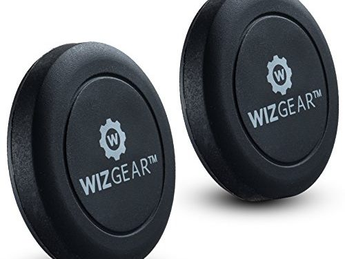 Extra Slim – WizGear Universal Flat Stick On 2 Pack Dashboard Magnetic Car Mount Holder for Cell Phones and Mini Tablets with Fast Swift-Snap Technology