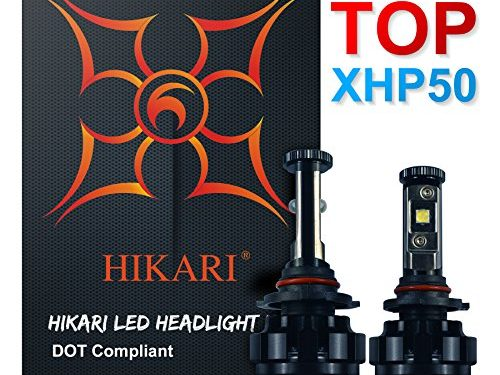 HIKARI LED Headlight Bulbs Conversion Kit -HB49006,CREE XHP50 9600lm 6K Cool White,2 Yr Warranty