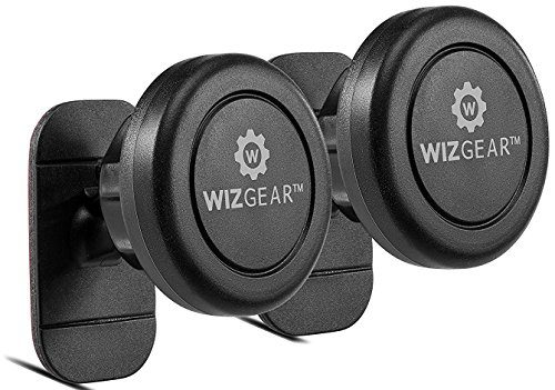 Magnetic Mount, WizGear Universal Stick On 2 PACK Dashboard Magnetic Car Mount Holder, for Cell Phones and Mini Tablets with Fast Swift-snap Technology, Magnetic Cell Phone Mount