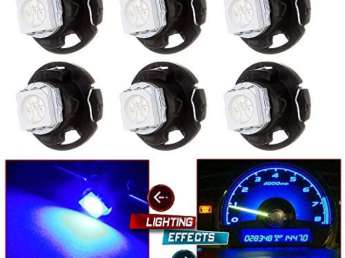 CCIYU 6 Pack T4.7 Neo Wedge 5050 Led for A/C Climate Heater Control Bulbs Lamp Light blue