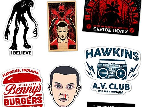 DAFT Stranger and Things Ultimate Stocking Stuffer Gift Sticker Pack 7 Stickers