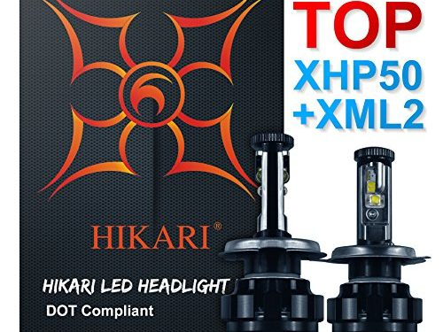 HIKARI LED Headlight Bulbs Conversion Kit -H49003,CREE XHP50+XM-L2 9600lm 6K Cool White,2 Yr Warranty