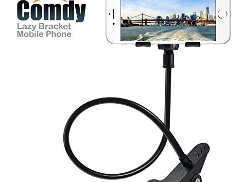 COMDY Cell Phone Holder, Lazy Bracket, Universal mobile Phone Stand, Flexible Clip mount clamp for IPhone, Samsung Galaxy, etc. for bed desk.