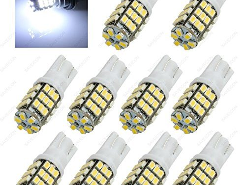 JDM 10 pcs LED Parking/ Backup License Plate Parking Interior Dome Light Bulbs Fit: T10 168 194 T15 920 921