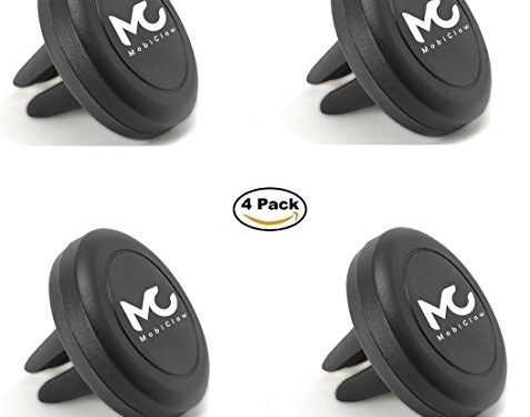 By MobiClaw 4 – Value 4 Pack For Use In Multiple Cars For Driver and Passenger – Pack – Magnetic Car Phone Holder With Air Vent Clip for Any Smartphone – Magnetic Phone Mount