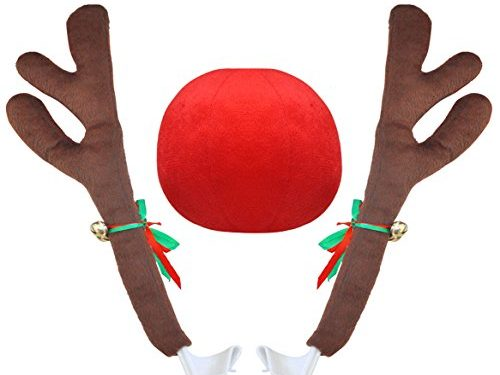 Crusar Christmas Reindeer Vehicle Costume with Jingle Bells