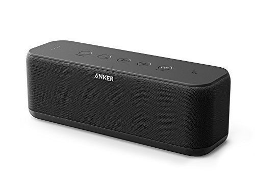 Anker SoundCore Boost 20W Bluetooth Speaker with BassUp Technology – 12h Playtime, IPX5 Water-Resistant, Portable Battery with 66ft Bluetooth Range / Superior Sound & Bass for iPhone, Samsung and more
