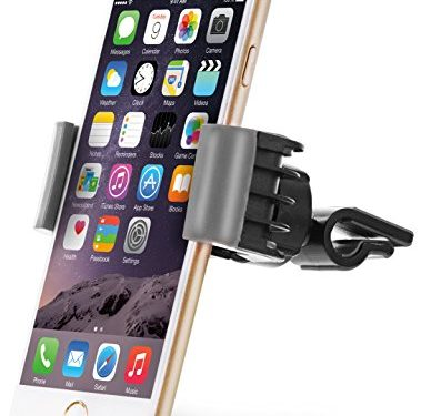 Aduro U-GRIP SWIVEL Universal Smartphone Air Vent Car Mount Holder with 360° Rotating swivel head compatible Apple iPhone, Samsung Galaxy, HTC and all Devices up to 6″ Gray