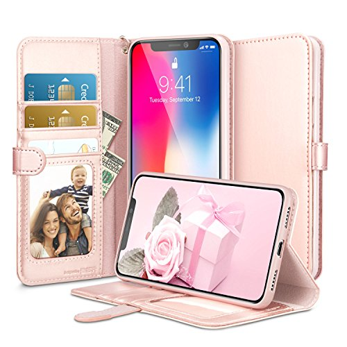 iPhone X Case, iPhone X Wallet Case, ESR Scratches-Free