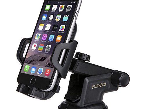 Purebox Car Phone Holder Universal Windshield Dashboard Truck Phone Mount Holder for iPhone 8 7 7S Plus 6 6S Plus 5 5s Galaxy S5 S6 S7 S8 Google Nexus LG Huawei