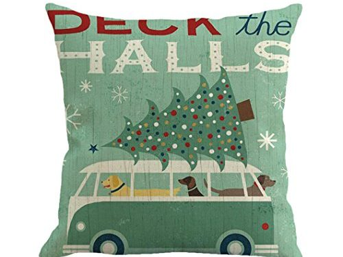 Goddessvan Christmas Printing Dyeing Pillow Cover Sofa Bed Home Decor Cushion Cover 1818 Inch 1818 Inch, C