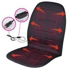 Heated Seat Cushion for Car, SUV, Van 12-Volt Padded Thermal Release – BDK Travel Warmer