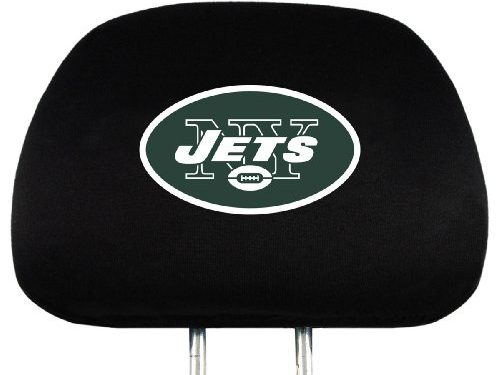 NFL New York Jets Head Rest Covers, 2-Pack