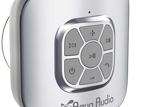 10 hours Playtime/ Built-in Mic Silver – Pairs with All Bluetooth Devices + Siri Compatible – AquaAudio Cubo – Portable Waterproof Bluetooth Speaker with Suction Cup for Showers, Car, etc.