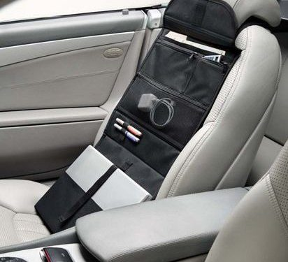 Car Office Organizer & Portable Workstation with Laptop Slot. Storage Tool Hangs From Front Seat Headrest for Easy Access & Folds Into a Carrying Case & Lap Desk. Great Gift For On The Go Workers.