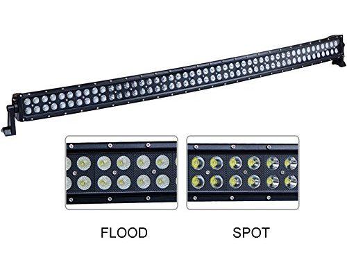 Nilight 50Inch 288W Curved LED Work Light Driving Fog Lamp LED Light Bar Offroad Lighting for SUV UTE ATV Truck 4×4 Boat, 2 years Warranty