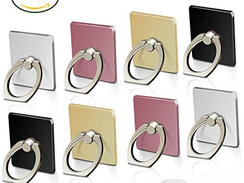 Cell Phone Ring Holder Stand, 8 Pack Phone Grip Car Mounts 360°Rotation with Finger Ring for iPhone X, 8, 7, 6s, Plus, Samsung Galaxy S6 S7, Note, LG, Google Pixel, Nokia, LG, Made by Fynix