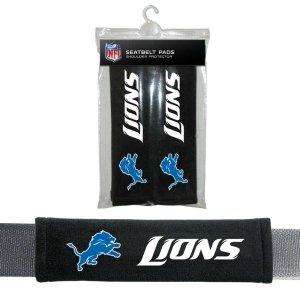 NFL Detroit Lions Seat Belt Pad Pack of 2