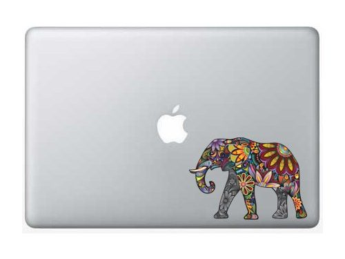5 Inch – Colorful Elephant – Apple Macbook Laptop Decal
