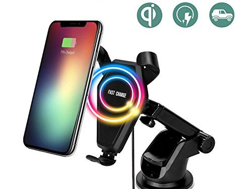Fast Wireless Car Charger,Car Mount Gravity Linkage Air Vent Charging for Samsung Galaxy Note 8/5,S8 Plus,S7,S6 Edge+,IPhone 8/8 Plus, iPhone X Accessories Compatible All Qi-Enabled Devices By Zeekoo