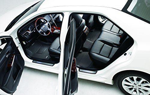 Kagu Rubber Black – 3D MAXpider Complete Set Custom Fit All-Weather Floor Mat for Select Hyundai Santa Fe Models